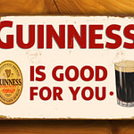 Guinness Metal Pub Sign