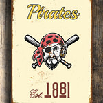 PITTSBURGH-PIRATES-Sign-VINTAGE-style-Pittsburgh-Pirates-Est.1881-Composite-Aluminum-Pittsburgh-Pirates-in-team-colors-Sports-Fan-Sign-1