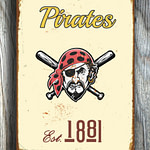 PITTSBURGH-PIRATES-Sign-VINTAGE-style-Pittsburgh-Pirates-Est.1881-Composite-Aluminum-Pittsburgh-Pirates-in-team-colors-Sports-Fan-Sign-3