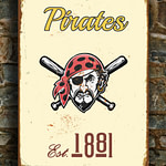 PITTSBURGH-PIRATES-Sign-VINTAGE-style-Pittsburgh-Pirates-Est.1881-Composite-Aluminum-Pittsburgh-Pirates-in-team-colors-Sports-Fan-Sign-4