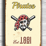 PITTSBURGH-PIRATES-Sign-VINTAGE-style-Pittsburgh-Pirates-Est.1881-Composite-Aluminum-Pittsburgh-Pirates-in-team-colors-Sports-Fan-Sign