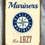 SEATTLE-MARINERS-Sign-Vintage-style-Seattle-Mariners-Est.-1977-Composite-Aluminum-Seattle-Mariners-in-team-colors-SPORTS-fan-Sign-Mariners-1