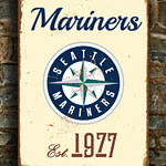 SEATTLE-MARINERS-Sign-Vintage-style-Seattle-Mariners-Est.-1977-Composite-Aluminum-Seattle-Mariners-in-team-colors-SPORTS-fan-Sign-Mariners-4