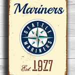 SEATTLE-MARINERS-Sign-Vintage-style-Seattle-Mariners-Est.-1977-Composite-Aluminum-Seattle-Mariners-in-team-colors-SPORTS-fan-Sign-Mariners