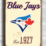 Toronto-BLUE-JAYS-Sign-Vintage-style-Toronto-Blue-Jays-Est.-1977-Composite-Aluminum-Toronto-Blue-Jays-Sign-team-colors-BASEBALL-Blue-Jays-1