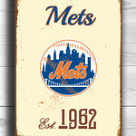 Vintage-style-New-YORK-METS-Sign-New-York-Mets-Est.-1962-Composite-Aluminum-New-York-Mets-in-team-colors-WORLDWIDE-Shipping