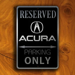 Acura Parking Only Sign