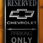 Chevy Parking Only Sign