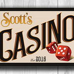 CUSTOM Casino Sign