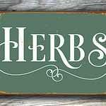 HERBS KITCHEN SIGN