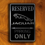 Jaguar Parking Only Sign