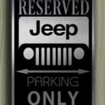 Jeep Only Sign