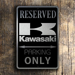 KAWASAKI RESERVED PARKING Sign