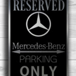 Merc Only Sign