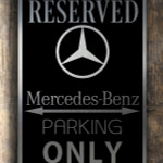 Mercedes Garage Sign