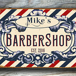 personalized barbershop sign