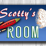 BLUE PERSONALIZED BOYS Room sign