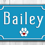 Personalized dog sign
