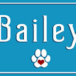 Personalized pet signs Dog name sign