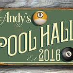 Personalized Pool Hall sign