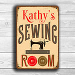 CUSTOM SEWING ROOM Sign