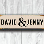 Personalized Wedding Couple Sign