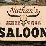 Saloon Name Signs