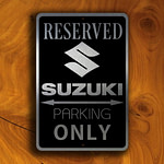 Suzuki Parking Only Sign