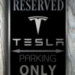 Tesla Garage Sign