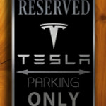 Tesla Parking Only Sign