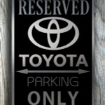 Toyota Parking sign