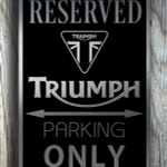 Triumph Garage Sign
