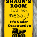 Vintage Style Boys Room Sign