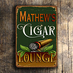 Vintage style Cigar Lounge Sign