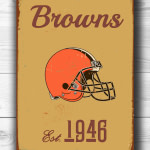 Vintage style Cleveland Browns Sign