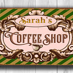 Vintage style Coffee Shop Signs