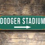 Vintage style Dodger Stadium Sign