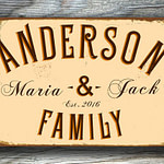 Vintage style Family Name Sign