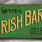 Vintage style Irish Bar Sign