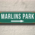 Vintage style Marlins Park Sign