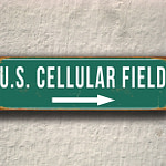 Vintage style US Cellular Field Sign
