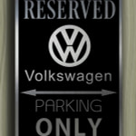 VW Parking Only Sign
