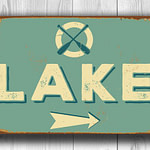 CUSTOM LAKE SIGN