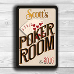 CUSTOM POKER ROOM Sign
