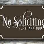 Brown No Solicting Sign