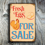 Fresh Eggs For Sale Sign 4