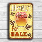 Honey For Sale Sign 1