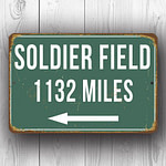 Soldier Field Stadium – Personalized Highway Sign