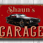 Chevy Camaro Garage Sign