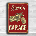 Custom Biker Garage Sign 1